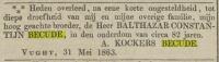 18630531 Overlijden Becude, Balthazar Constantijn (rouwadv)