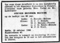 19681019 Overlijden Becude, Steven Hendrik (rouwadv)