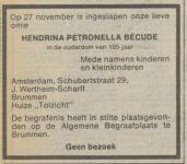 19791127 Overlijden Becude, Hendrina Petronella (fam.adv.)