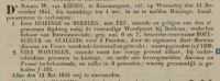 18441206 Verkoopadvertentie: Harsma, Hart Martens