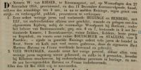18441115 Veiling Huis, Herberg Harsma, Hart Martens (advertentie)