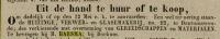 18450131 Verkoopadvertentie, Harsma H.