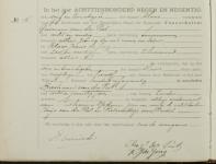 18990324 Overlijdensakte Peet van der, Bastiaan (1821)