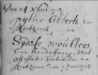 17140107 Huwelijk (Geref) Pytter Alberts