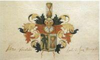 Atzo Nicolaus: Wapen tijdens studentijd (bron Fryske Akedemie, Jierboek 2000