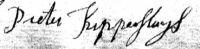 Handkening Pieter Kippersluys (17760120)
